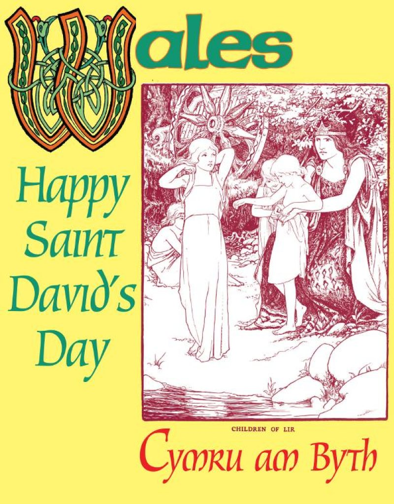 st davids day welsh mythology ecard